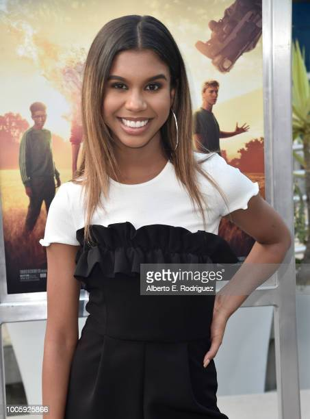 Aliyah Moulden attends a screening of 20th Century Fox's 'Darkest Minds' at ArcLight Hollywood on July 26 2018 in Hollywood California
