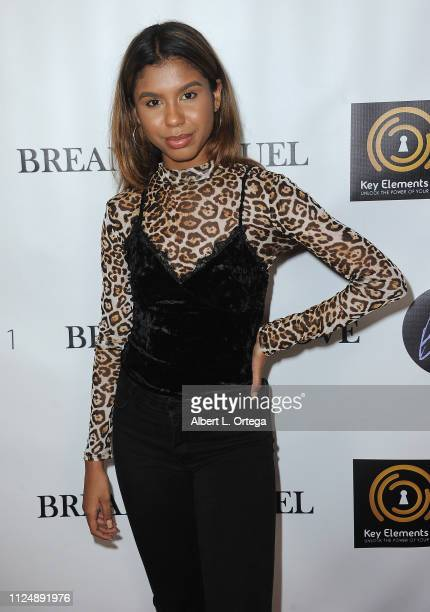 Aliyah Moulden attends Breana Raquel 'Beginner's Love' EP Release Party Diabetes Fundraiser held at Paramount Academy Of Music on February 13 2019 in...