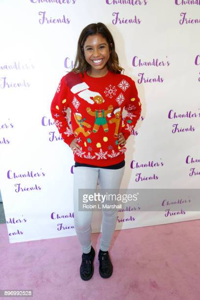 Aliyah Moulden attends Chandler's Friends Toy Drive and Wrapping Party at Los Angeles Ballet Academy on December 10 2017 in Encino California