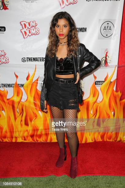 Aliyah Moulden attends Mateo Simon's Annual Charity Halloween Event on October 27 2018 in Burbank California