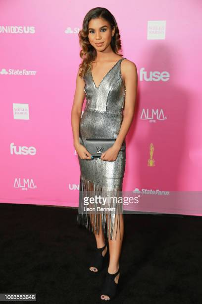 Aliyah Moulden attends The ALMAs 2018 Arrivals on November 04 2018 in Los Angeles California