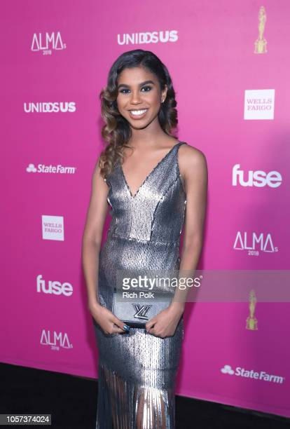 Aliyah Moulden attends the ALMAs 2018 LIVE On Fuse at LA Live on November 4 2018 in Los Angeles California