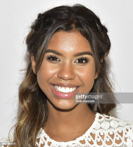 Aliyah Moulden attends the Boys and Girls Clubs of America Youth of the Year Gala at The Beverly Hilton Hotel on July 12 2018 in Beverly Hills...
