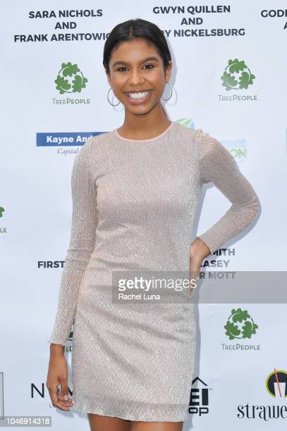 Aliyah Moulden attends TreePeople's 31st Annual An Evening Under The Harvest Moon Gala at TreePeople on October 6 2018 in Beverly Hills California