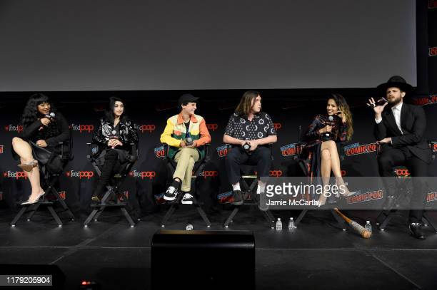 Aliyah Royale Alexa Mansour Nicolas Cantu Hal Cumpston Annet Mahendru and Nico Tortorella attend a panel for AMC's The Walking Dead Universe...