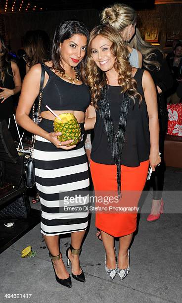 AliyaJasmine Sovani and Melissa Grelo attend the CîROC Le Beat Tropique Toronto at EFS Lounge on May 28 2014 in Toronto Canada