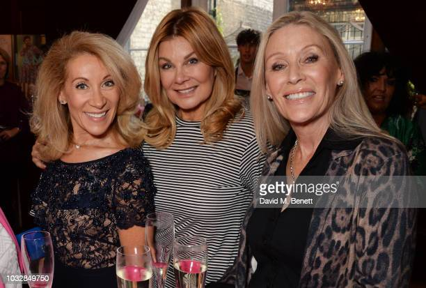Aliza Reger Jilly Johnson and Angie Best attend attends the JDW Midster Live AW18 Catwalk Show and party presented by JD Williams during London...