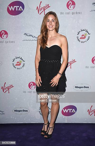 Alize Cornet attends the annual WTA PreWimbledon Party presented by Dubai Duty Free at the Kensington Roof Gardens on June 23 2016 in London England