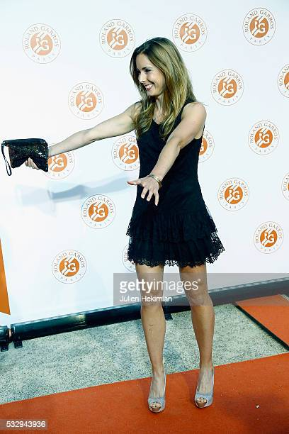 Alize Cornet attends the Roland Garros Players' Party at Grand Palais on May 19 2016 in Paris France