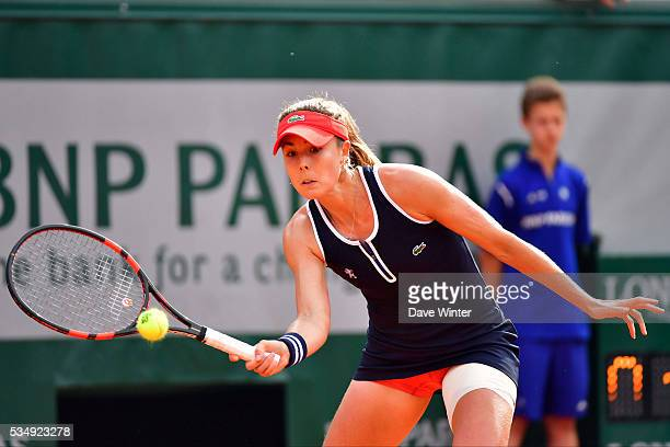 Alize Cornet during the Women's Singles third round on day seven of the French Open 2016 on May 28 2016 in Paris France