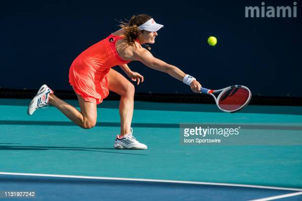 Alize Cornet in action during the Miami Open on March 20 2019 at Hard Rock Stadium in Miami Gardens FL