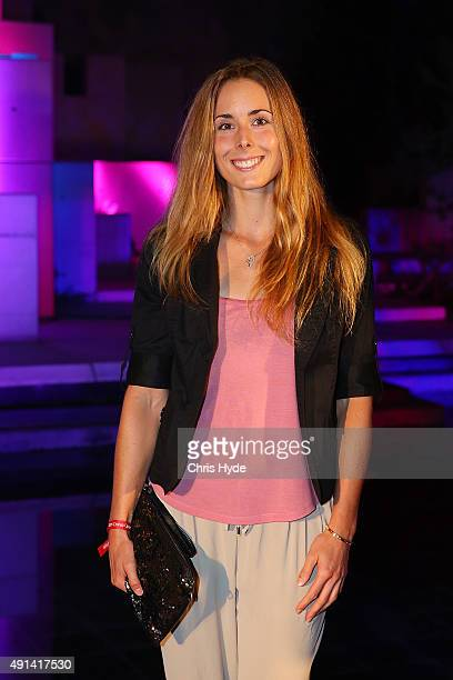 Alize Cornet of France arrives at the 2015 China Open Player Party at The Birds Nest on October 5 2015 in Beijing China