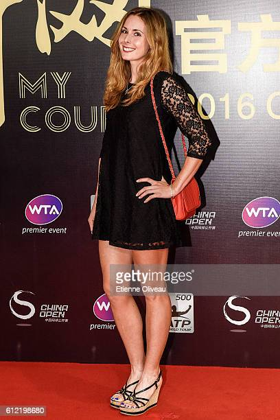 Alize Cornet of France arrives at the 2016 China Open Player Party at The Birds Nest on October 3 2016 in Beijing China