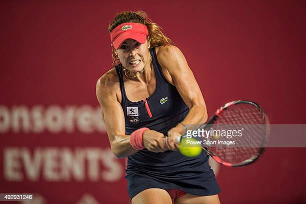 Alize Cornet of France in action against Venus Williams of USA during the WTA Prudential Hong Kong Tennis Open on October 16 2015 at the Victoria...