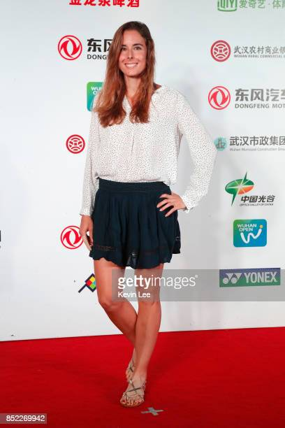Alize Cornet of France poses for a picture at a party of 2017 DONGFENG MOTOR WUHAN OPEN on September 23 2017 in Wuhan China