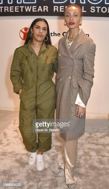 Alize Demange and Adwoa Aboah attend the opening of 'The Drop' the UK's first streetwear rental space with all profits going towards Save the...