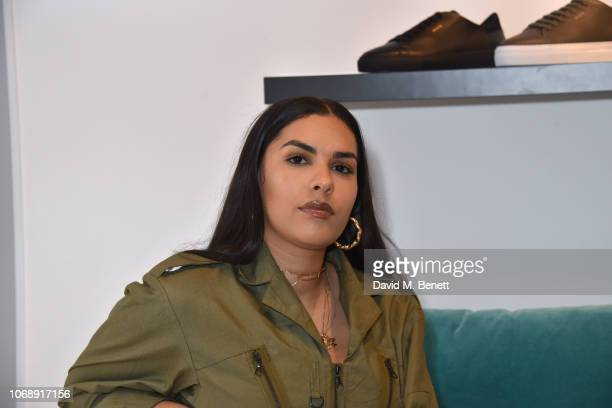 Alize Demange attends the opening of 'The Drop' the UK's first streetwear rental space with all profits going towards Save the Children's Big Up...