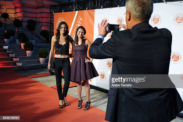 Alize Lim and Amandine Hesse during the photocall before the opening party of the French Open 2016 at Le Petit Palais on May 19 in Paris France