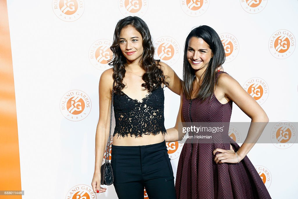 Alize Lim and Amandine Hesse of France attend the Roland Garros Players' Party at Grand Palais on May 19, 2016 in Paris, France.