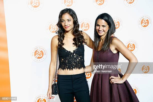 Alize Lim and Amandine Hesse of France attend the Roland Garros Players' Party at Grand Palais on May 19 2016 in Paris France