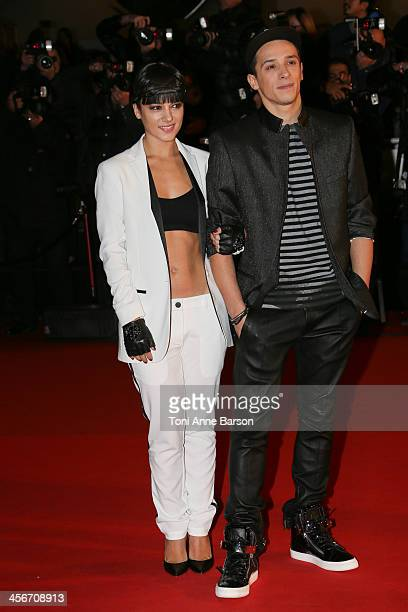 Alizee and Gregoire Lyonnet arrive at the 15th NRJ Music Awards at the Palais des Festivals on December 14 2013 in Cannes France