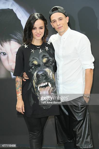 Alizee and Gregoire Lyonnet attend photocall for 'Dance with the Stars' at the Grimaldi Forum on June 14 2015 in MonteCarlo Monaco
