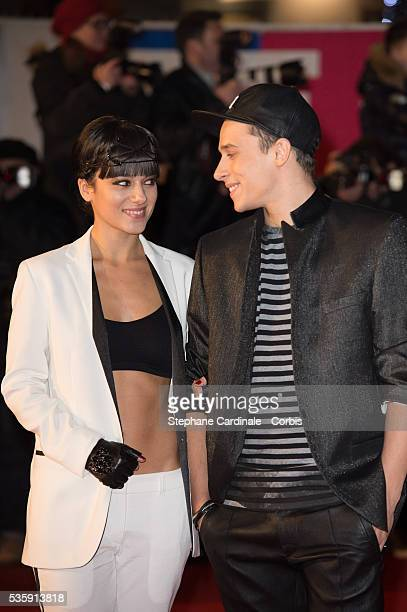 Alizee and Gregoire Lyonnet attend the 15th NRJ Music Awards at Palais des Festivals in Cannes