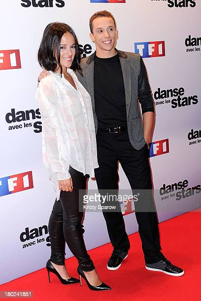 Alizee and Gregoire Lyonnet attend the 'Danse Avec Les Stars' season 4 photocall at TF1 on September 10 2013 in Paris France