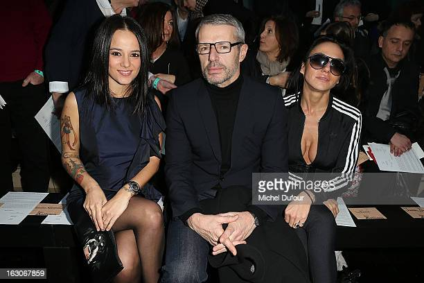 Alizee and Lambert Wilson attend the John Galliano Fall/Winter 2013 ReadytoWear show as part of Paris Fashion Week at Le Centorial on March 3 2013 in...