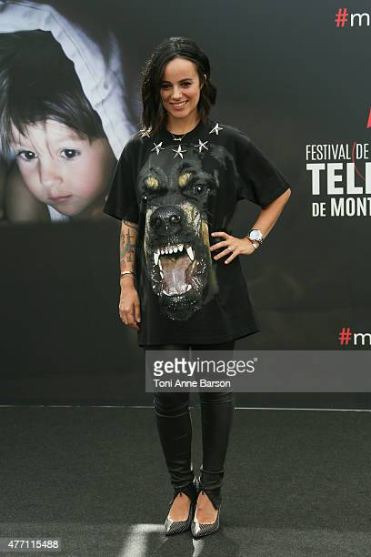 Alizee attends photocall for 'Dance with the Stars' at the Grimaldi Forum on June 14 2015 in MonteCarlo Monaco