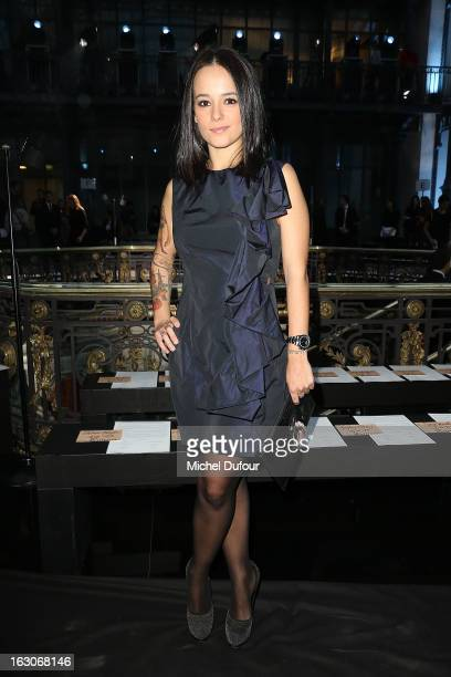 Alizee attends the John Galliano Fall/Winter 2013 ReadytoWear show as part of Paris Fashion Week at Le Centorial on March 3 2013 in Paris France