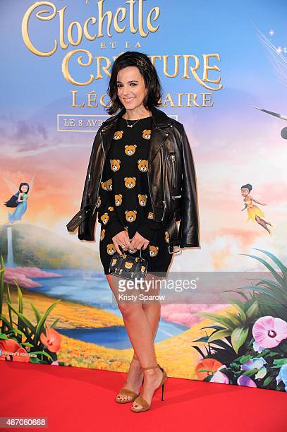 Alizee attends the 'Tinkerbell and The Legend of the Neverbeast' Paris Premiere at Gaumont Champs Elysees on March 20 2015 in Paris France