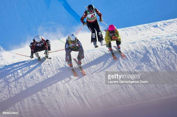 Alizee Baron of France competes Heidi Zacher of Germany takes 2nd place Kelsey Serwa of Canada competes Brittany Phelan of Canada competes during the...