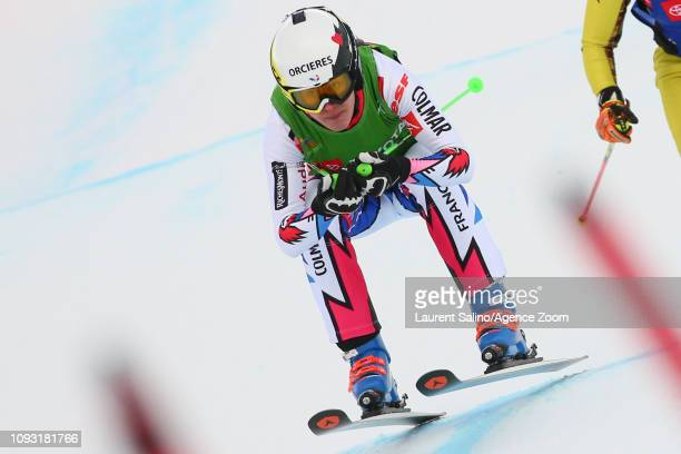 Alizee Baron of France takes 3rd place during the FIS World Freestyle Ski Championships Men's and Women's Ski Cross on February 2 2019 in Park City...
