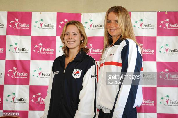 Alizee CORNET / Daniela HANTUCHOVA Fed Cup Conference de Presse Limoges