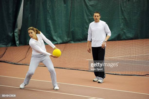 Alizee CORNET / Pascal SUPIOT Entrainement Fed Cup