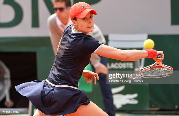 Alizee Cornet playing the third round of the French Tennis Open 2013 in Roland Garros Stadium ParisFrance on June 1st 2013 Photo byChristian...