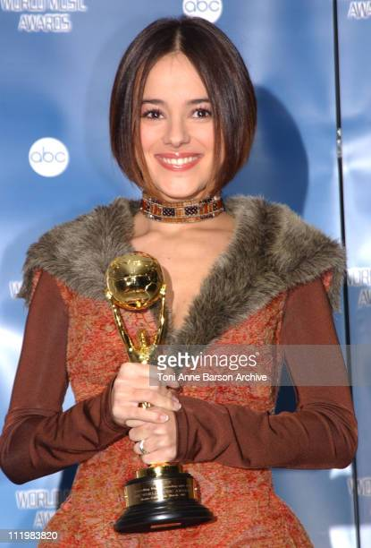 Alizee during World Music Awards 2002 Press Room at MonteCarlo Sporting Club in MonteCarlo Monaco