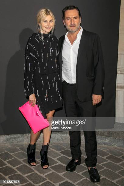 Alizee Guinochet and Gilles Lellouche attend the Vogue Foundation Dinner Photocall as part of Paris Fashion Week Haute Couture Fall/Winter 20182019...