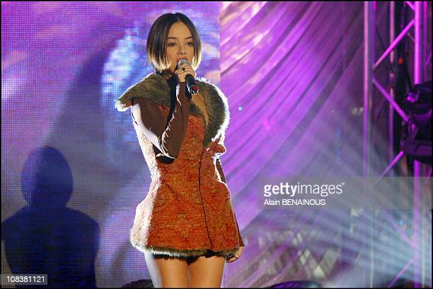 Alizee in Monaco on March 06 2002