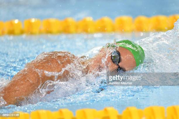 Alizee Morel competes in the 400m Women's Individual Freestyle Final on day six of the French National Swimming Championships on May 28, 2017 in...