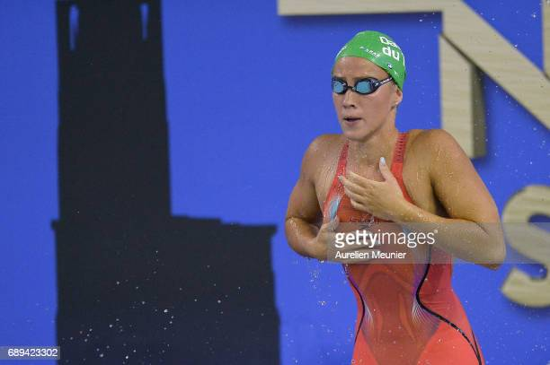 Alizee Morel prepares to compete in the 400m Women's Individual Freestyle Final on day six of the French National Swimming Championships on May 28,...