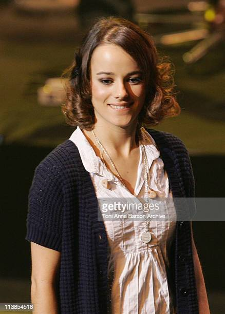 Alizee performs at the Fight Aids Monaco Gala Tribute to Serge Gainsbourg on March 20 2008 at the Grimaldi Forum in Monte Carlo Monaco