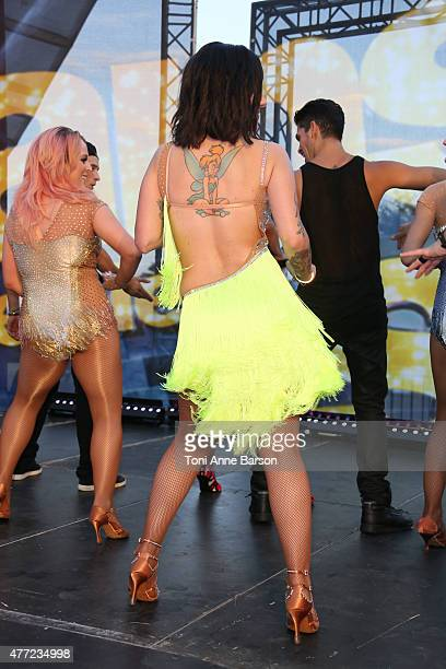 Alizee performs for Dance Avec Les Stars at the Grimaldi Forum on June 14 2015 in MonteCarlo Monaco