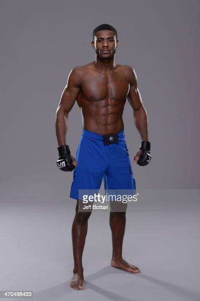 Aljamain Sterling poses for a portrait during a UFC photo session on February 19 2014 in Las Vegas Nevada