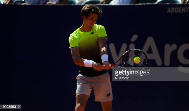 Aljaz Bedene during the final of the ATP Argentina Open against Dominic Thiem on February 18 2018 in Buenos Aires Argentina