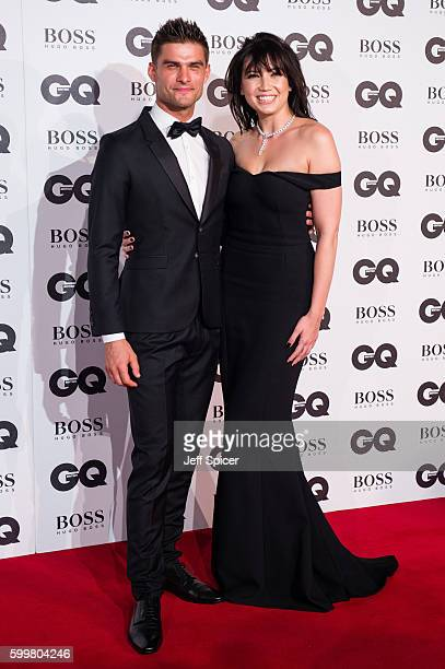 Aljaz Skorjanec and Daisy Lowe arrive for GQ Men Of The Year Awards 2016 at Tate Modern on September 6 2016 in London England