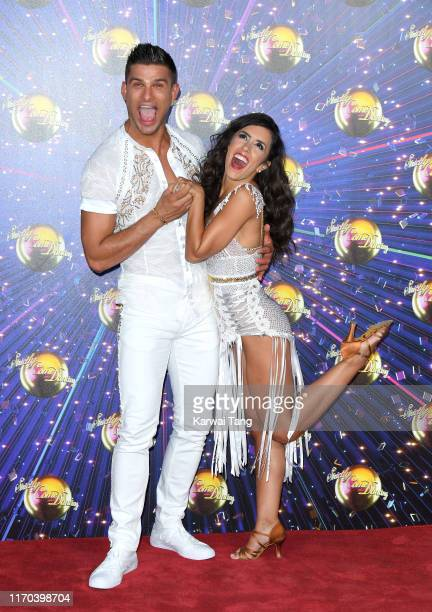Aljaz Skorjanec and Janette Manrara attend the Strictly Come Dancing launch show red carpet arrivals at Television Centre on August 26 2019 in London...