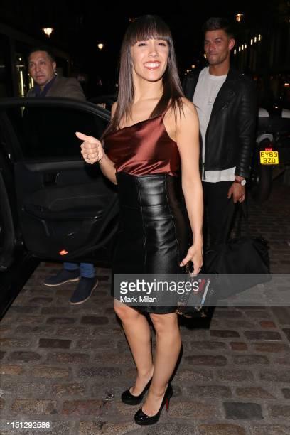 Aljaz Skorjanec and Janette Manrara leaving the Ivy restaurant on May 23 2019 in London England