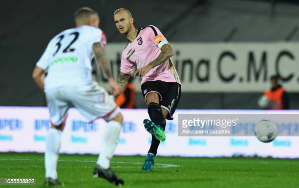 Aljaz Struna of Citta di Palermo in action during the Serie b match between Carpi FC and US Citta di Palermo on October 30 2018 in Carpi Italy